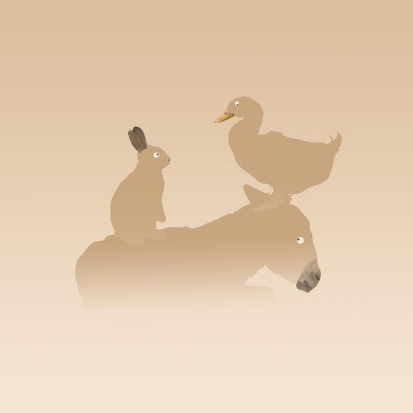 ezel konijn en eend